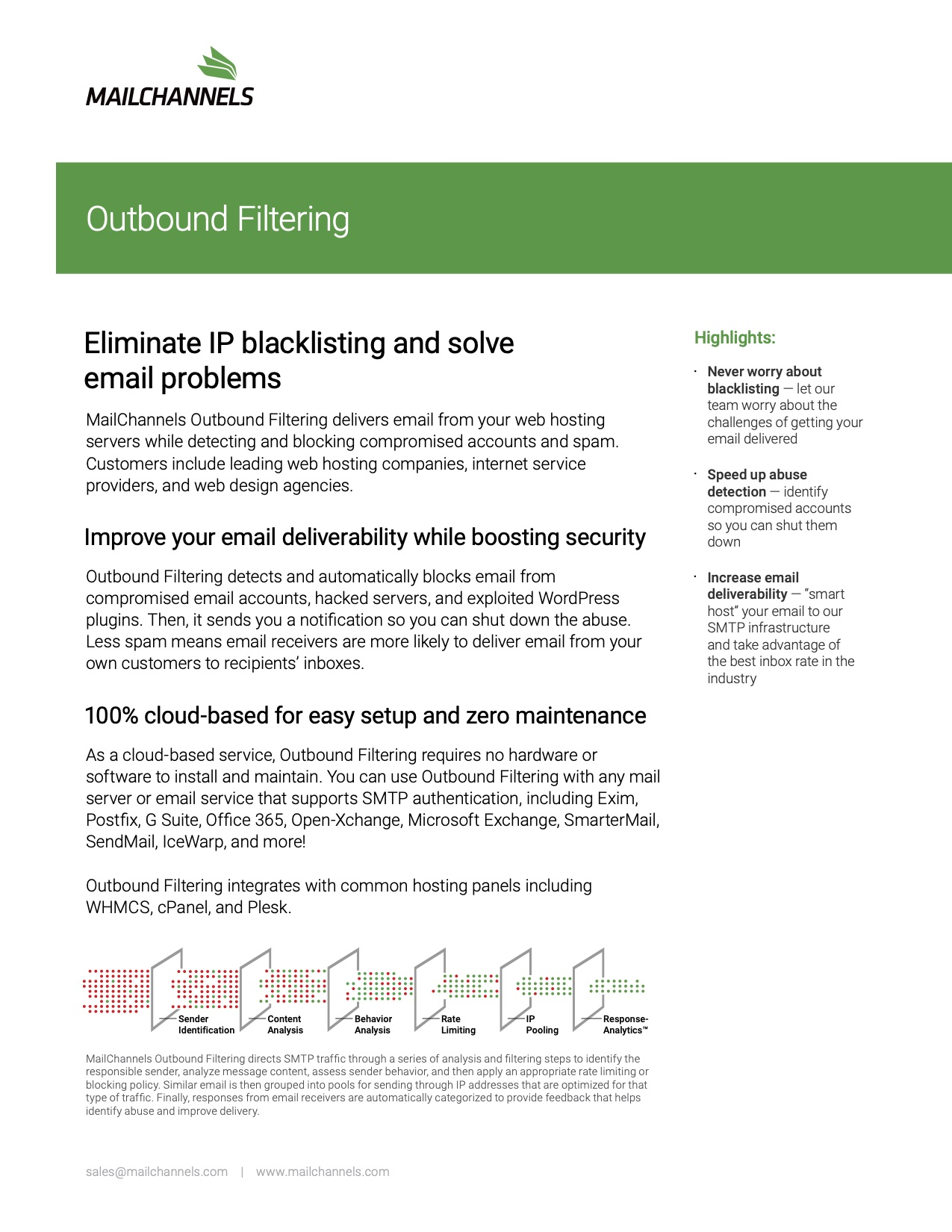 MailChannels Outbound Filtering - Preview