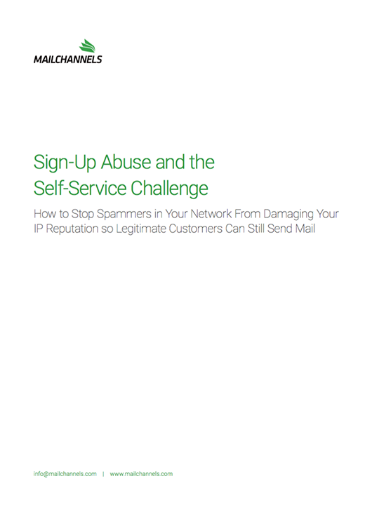 Sign-up Abuse and the Self-Service Challenge