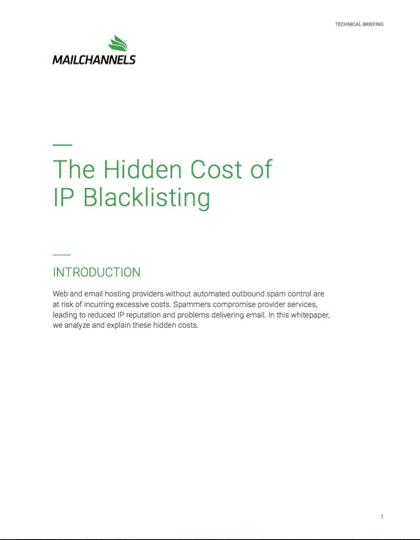 The Hidden Cost of IP Blacklisting